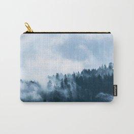 Blue Foggy Rocky Mountains Colorado USA Adventure Carry-All Pouch