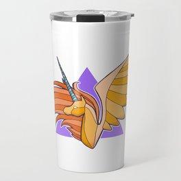 Golden Alicorn Bust Travel Mug