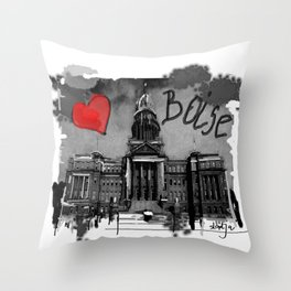 I love Boise Throw Pillow