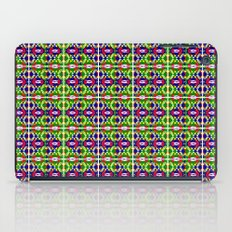 Blue Green Tile 2 iPad Case
