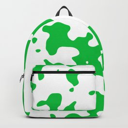 Large Spots - White and Dark Pastel Green Backpack