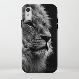Black Print Lion iPhone Case