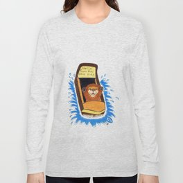 Hello from the otter slide Long Sleeve T-shirt