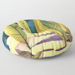 Landscape with poplar trees Floor Pillow