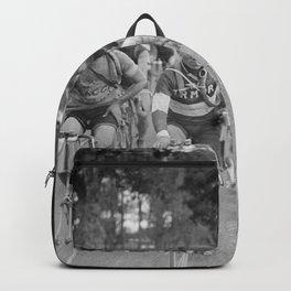 Tour De France - Vintage Photograph Cigarette Break Backpack