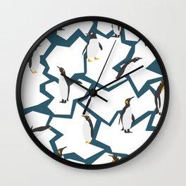 Penguin pattern Wall Clock