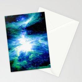 Orion Nebula Blue & Green Stationery Cards