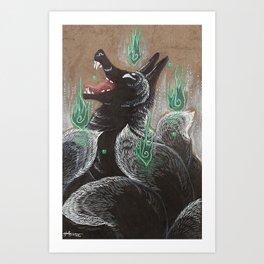 The Kitsune Art Print