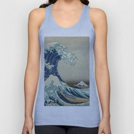 The Classic Japanese Great Wave off Kanagawa Print by Hokusai Unisex Tank Top