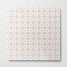 Damask pattern design Metal Print