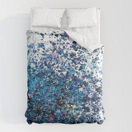 Crystallize- Blue Spatter  Comforters