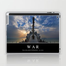 War: Inspirational Quote and Motivational Poster Laptop & iPad Skin