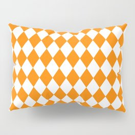 Diamonds (Orange/White) Pillow Sham