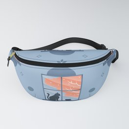 Happy At Home - Playful Cat Pattern V1 Fanny Pack