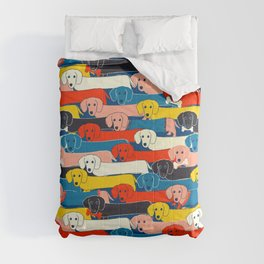 COLORED DOGS PATTERN 2 Comforters