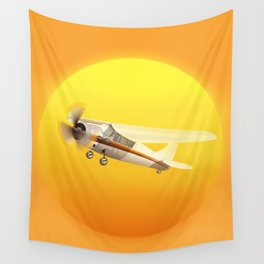 Bright Yellow Sun Wall Tapestry
