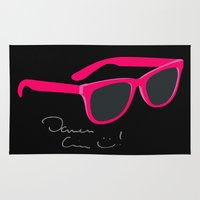 darren criss Area & Throw Rugs featuring Darren Criss Glasses by byebyesally