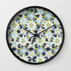 Passionflower Wall Clock