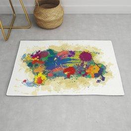 Sardinia, paint drops map Rug