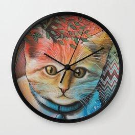 Milo ... Abstract Cat Kitten Art Wall Clock