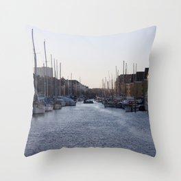 Copenhagen Christianshavn canal view Throw Pillow