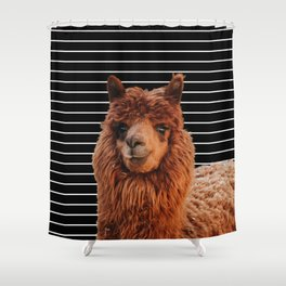 Llama Drama Shower Curtain