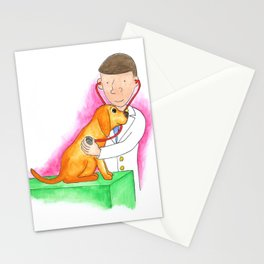Dr. Chuck the Friendly Veterinarian Stationery Cards