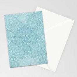 Lace pastel blue pattern Stationery Cards