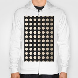 White Gold Sands Polka Dots on Midnight Black Hoody