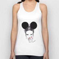 minnie Tank Tops featuring Minnie Mouse by Bella Harris