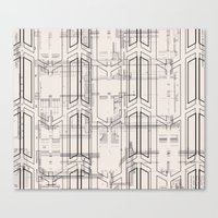 blueprint Canvas Prints featuring Blueprint by hoopderscotch