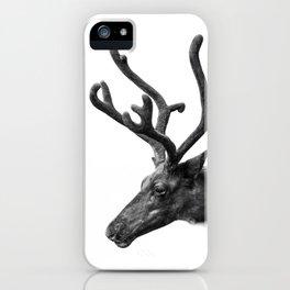 Animal Photography | Reindeer Minimalism | Antlers Christmas | Rudolf iPhone Case