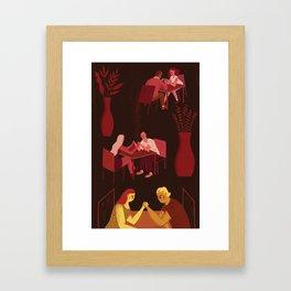 Harsh realities of relationships Framed Art Print