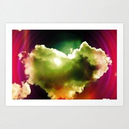 Heart Cloud Art Print