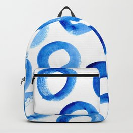 Brushy Blue Circles Backpack