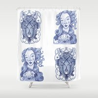 venus Shower Curtains featuring Venus by Alba BlancoBoga
