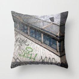 smashed window Throw Pillow