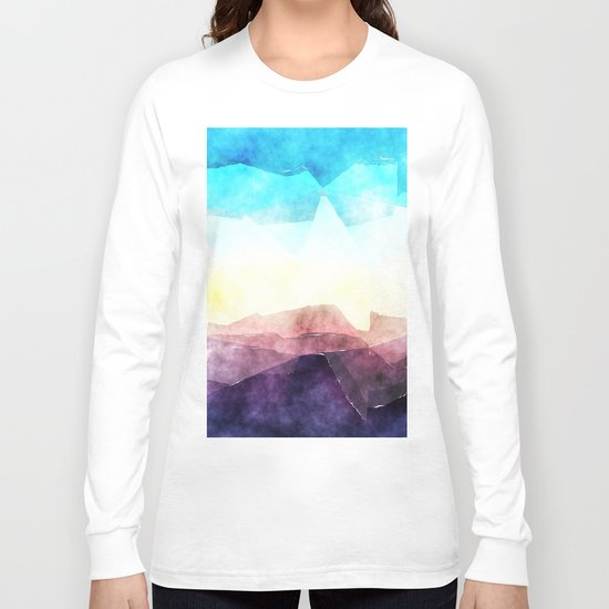In the sea- abstract watercolor - Original triangle pattern Long Sleeve T-shirt