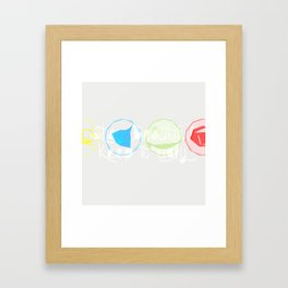 Keep it ugly Framed Art Print