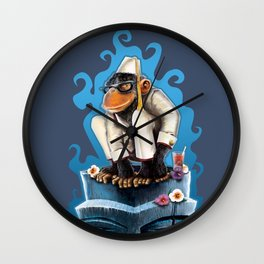 Cosmo At The Moon Palace Wall Clock