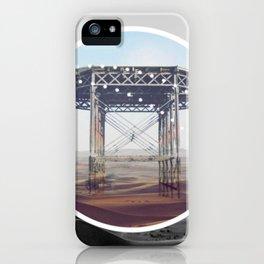 Surreal Bridge - circle graphic iPhone Case
