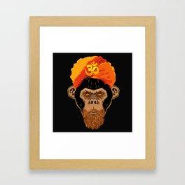 Stoned Monkey Framed Art Print