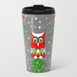 Yuletide Owl Travel Mug