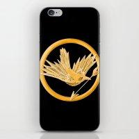 mockingjay iPhone & iPod Skins featuring Mockingjay by AriesNamarie