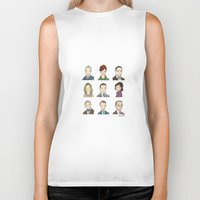 mad men Biker Tanks featuring Mad Men by Steven Learmonth