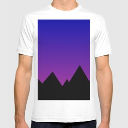 Mountains at Sunset (Blue & Magenta) T-shirt