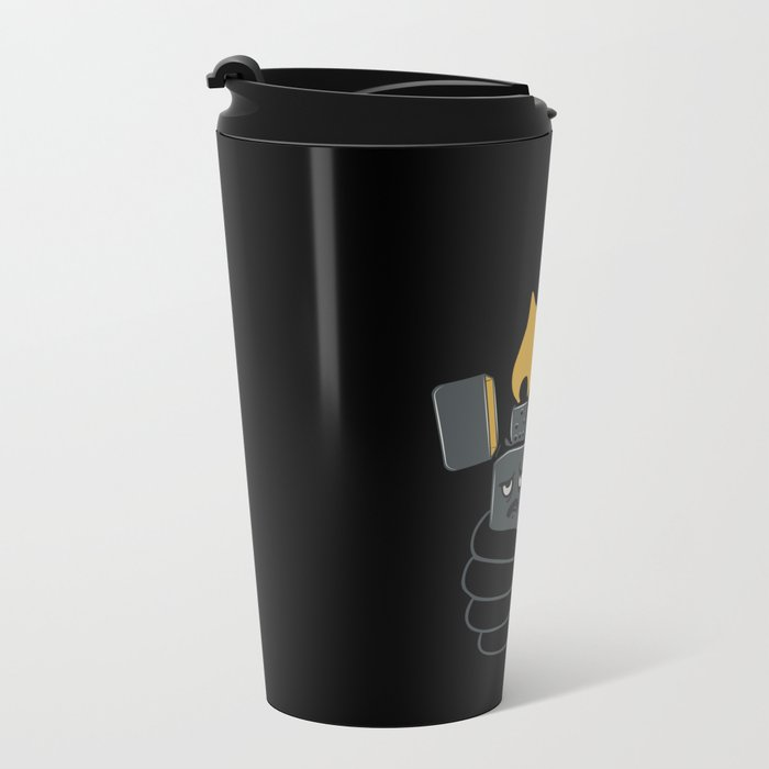 Mad Music Lighter Metal Travel Mug