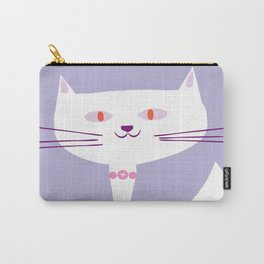 cool white cat Carry-All Pouch