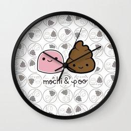Mochi & Poo - Pattern2 Wall Clock