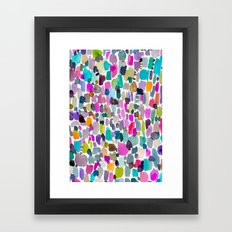 Color Party Framed Art Print
